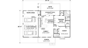 Country style house plan 2 beds 2 50 baths 1500 sq ft plan 56