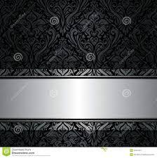 Zwart Zilveren Uitstekend Behang Vector Illustratie Illustratie