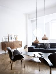 pendant lights in a living room