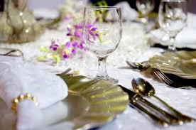 wedding reception table settings. Gold Theme Wedding Reception Table Settings. Settings