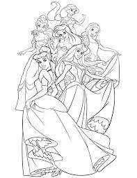 Disney Princess Coloring Pages 45 Free Printable Coloring Pages