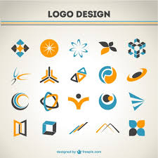 Creating A Logo For Free And Free To Download Orange And Blue Logos Set Vector Free Download