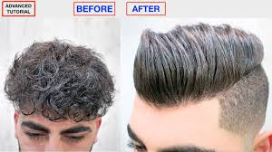 hair straightening keratin men s hairstyle dry frizzy curly to straight hair hair style viral