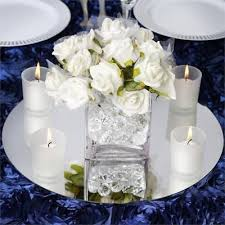 36 pc round 14 glass mirror wedding table centerpieces