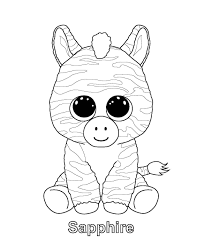 Beanie Baby Unicorns Coloring Pages