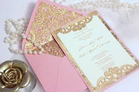 cool album of pink and gold wedding invitations which various Pink And Gold Wedding Invitation Kits pink and gold wedding invitations to inspire you in making cool affordable wedding invitation sets 376 Pink and Gold Glitter Wedding Invitations