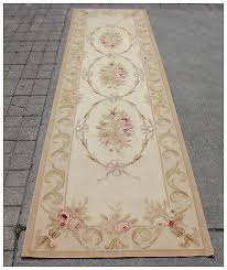 10 runner aubusson rug antique french pastel wool handmade french stair carpet