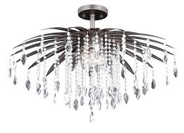 semi flush chandelier mount lighting home depot lights uk crystal chrome semi flush chandelier