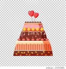 Wedding Cake Icon Cartoon Style Stock Illustration 25431885 Pixta