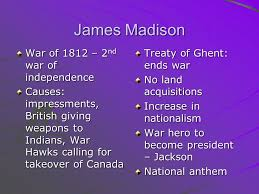 midterm essay topics presidential decisions supreme court  4 james madison war of 1812