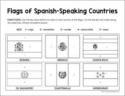 The spain flag primary colors are red and yellow. Flags Of Spanish Speaking Countries Bulletin Board Border By Spanish Made Easy