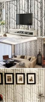Großhandel Schwarz Weiße Birken Tapete Für Schlafzimmer Modernes