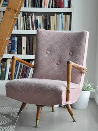 vintage upholstered chair. Interesting Chair Pink Vintage Upholstered Chair Before On Vintage Upholstered Chair P