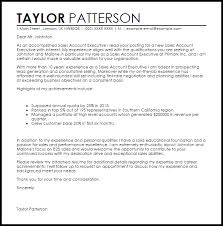 Example Of Executive Cover Letters Sales Executive Cover Letter Sample Sales Account Executive Cover