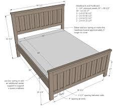 Cozy Design Width Of Queen Size Bed Frame Queen Plans