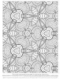 Free Printable Abstract Coloring Pages For Adults Pattern Coloring ...