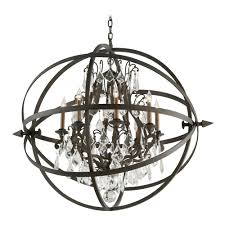 troy lighting crystal orb chandelier pendant light in vintage bronze finish f2998 hover or to zoom
