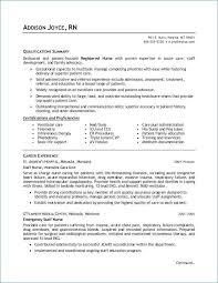 Registered Nurse Resume Sample Unique Nurse Resume Sample Resume