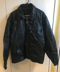 details about wilsons leather m julian mens xl x large er zip black leather coat jacket