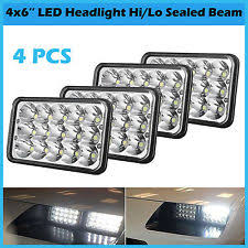 gmc w4500 4pcs 4x6 led headlights for gmc w3500 w4500 w5500 forward isuzu npr hd
