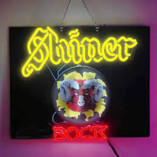 Shiner Neon Light Shiner Bock Beer Bar Pub Store Party Room Wall Windows