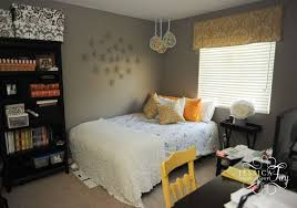 simple gray and yellow bedroom theme color with nice diy pendant lighting howiezine