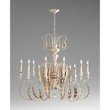 cyan design 05052 motivo 10 light chandelier in persian white