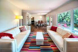 bright colorful area rugs dazzling area rugs in living room modern with area rug on in