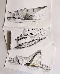 modern architectural sketches. Architecture Sketches ✍ By Modern Architectural O