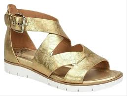 Eürosoft By Söfft Antique Gold Mirabell Leather Criss Cross Strappy Sandals Size Us 7 5 Regular M B