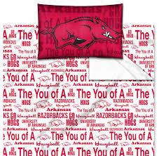 ncaa arkansas razorbacks sheet set anthem sheets twin bed