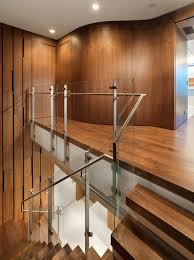staggering glass railing decorating ideas for staircase modern design ideas with staggering curved wall custom