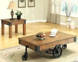 rustic coffee table pertaining to furniture s ideas plans with wheels tables storage chicago craigslist full