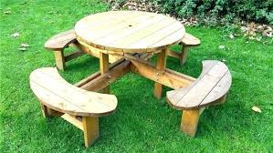 childrens wooden picnic table round wood picnic table round wood picnic table remarkable round wood picnic