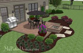 concrete patio with square fire pit. Landscaping Around A Square Patio - Google Search More Concrete With Fire Pit