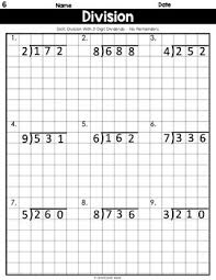 Long Division On Graph Paper No Remainders 3 Digits By 1 Digit