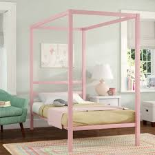Kids Canopy Bed Pink   Wayfair