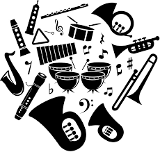 無料イラスト いろんな楽器のシルエット パブリックドメインq著作権