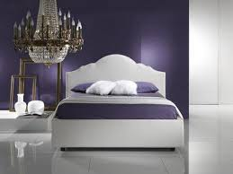 Purple Bedroom Master Bedroom Purple Wall Theme And Purple Bed Sheet On White Bed Connected By