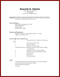 Resume Work Experience Format Simple Resume Template For High School Graduate With No Work Experience