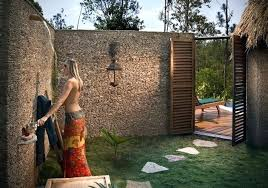 outdoor bathroom for pool spa bathroom design ideas pictures