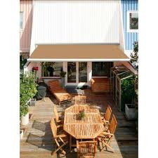 luxury l series semi cassette electric with remote retractable patio awning