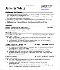 9 Nursing Resume Templates Free Samples Examples Format