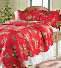 Holly Red Holiday Quilt Bedding | Dark red, Patchwork and Navidad &  Adamdwight.com