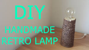 Diy Handmade Wooden Retro Table Lamp Bedside Lamp
