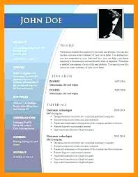 Resume Format Word Document Free Download Resume Format Ms Word Free Download In Sample Mmventures Co