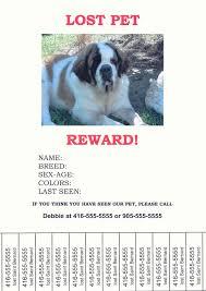 Lost Pet Flyer Maker Found Dog Flyer Template Best Template Design Images 41