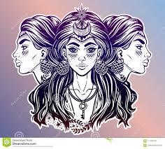 волшебная богиня Hecate иллюстрация вектора иллюстрации