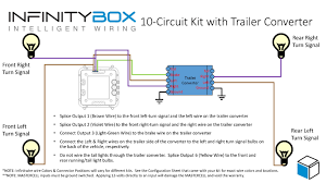 turn signals a trailer converter • infinitybox wiring diagram showing how to wire a trailer converter to control 1 filament turn signals