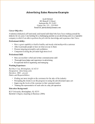 Resume Format For Advertising Agency Sales Examples Newspaper
